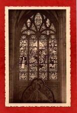 cpa Belgique MALINES - Eglise St Rombaut - Vitrail principal