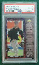 Michael Jordan baseball rookie card graded PSA 8 Nm-Mt  1994 Electric Diamond RC
