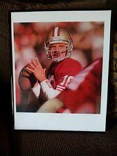 "Joe Montana & Daniel Smith autographed""Canton, Ohio"" 49ers Lithograph COA"