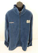Notre Dame Columbia Full Zip Fleece Jacket Mens Size 4X