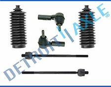 Inner & Outer Tie Rod End Set w/Steering Rack Boots Chevy Buick Pontiac Saturn