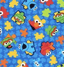 Autism Puzzle 100% Cotton Fabric- Royal Blue Puzzle Pieces| Mask