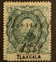 L1/19 Mexico Stamps BOB Revenue 1878 1c ULH Great Center Nice Clean Coll