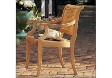 ARM CHAIR - A GRADE TEAK GARDEN OUTDOOR FURNITURE DINING PATIO - GIVA COLLECTION
