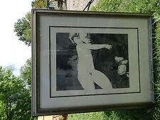 Sunol Alvar Nude Print Hand Signed w/custom frame