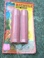 NOS Vintage 60's-70's Iverson Muscle Bike Ape Hanger Bicycle Grips Red Original