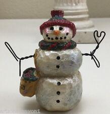 """Pam Schifferl Pam Schifferl 3"""" """"Snowman"""" Iridescent Glitter Figurine Excellent"""