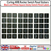 Camper Boat Switch Labels Sticky Panel Stickers Instrument Decal Van RIB Dory VW