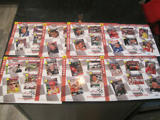 1993 Finish Line Commemorative Sheets 1-8  # out of 10,000