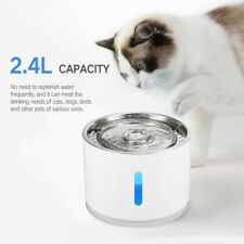 New Usb Stainless Steel Top Led Au Electric 2.4L Cat/Dog Pet Water Fountain Usa