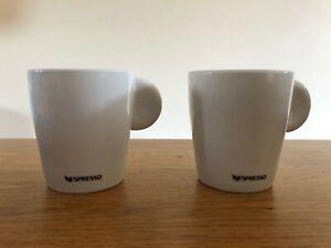 Set of 2 Genuine Nespresso  Lungo Professional White Coffee Cups  - NEW