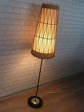 60er STEHLAMPE Standleuchte Rattan Weide 142 cm  stunning 60s floor lamp