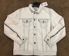 RARE Levi's Made & Crafted Type 3 Trucker Jacket Sz M Bleached Denim White $228