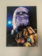 "Thanos Avengers End Game   18""x24"" Pop Art Painting Chris Cargill"