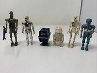 Vintage Star Wars Action Figure Lot of 6 Droids R4-D4 - 8D8 - Death Star Droid +