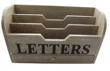 Gisela Graham Chic Distressed Letter Rack - Wooden Organiser - New Home gift