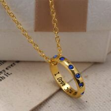 i love you  ring necklace  With Chain New WITH GIFT BOX