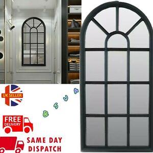 Window Soho Style Mirror Wall Mounted Home Decoration Vintage RoomHallway BlackN