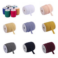 100m x 15mm Fold Over Elastic for Garments Binding Sewing Crafts DIY  10colors