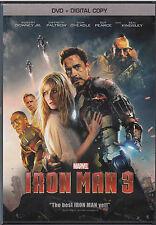 Iron Man 3 (DVD, 2013, Includes Digital Copy) VG