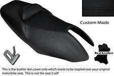 BLACK STITCH CUSTOM FITS YAMAHA T MAX XP 500 01-07 DUAL LEATHER SEAT COVER