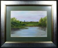 Original Scottish Art Painting Black Loch Dumfries Signed Titled