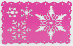 Cardmaking Metal Stencil Template For Embossing & Stenciling Snowflakes