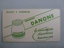 YOGHOURT DANONE DESSERT DES DIGESTIONS HEUREUSES / BUVARD PUBLICITAIRE  ANCIEN