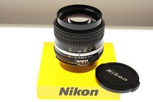 Nikon Nikkor 85mm f/2.0 Ai-s portrait lens. In EXC++ condition.