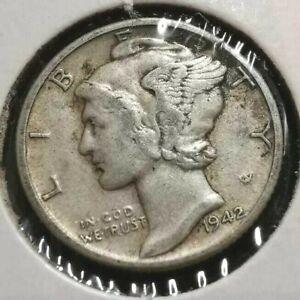 1942-D 10c Mercury Dime