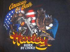 Vtg American by Birth Harley Davidson Rider by Choice Large Oceanside Ca Chopper