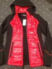 Suzy Shier Red & Black Fleece Lined Hooded Jacket Size XS