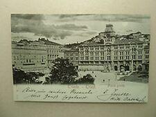 Ansichtskarte Triest Piazza Grande Vollmondkarte 1898