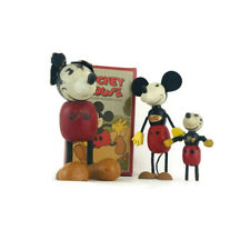 Vintage 1930's, 19340. & Mickey Mouse Fun-e-flex Wooden Figures!! One-of-a-kind!