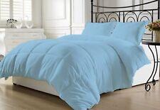 1 Piece Light Blue Solid Comforter Cotton 1000 TC Microfiber Fill Heavy Weight