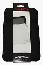 ROCKETFISH 8'' X 5'' ( 203mm x 127mm ) UNIVERSAL TABLET POCKET CASE -NEW-  BLACK