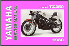 YAMAHA Workshop Manual TZ250 TZ250G 1980 Service Repair Maintenance Tuning