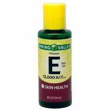 3 SPRING VALLEY VITAMIN E SKIN Care Face OIL Health Moisturizer 12000 IU 2 FL OZ