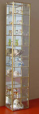NEW Large & Tall 24x4 Glass and Brass Curio Cabinet for Collectibles Figurines