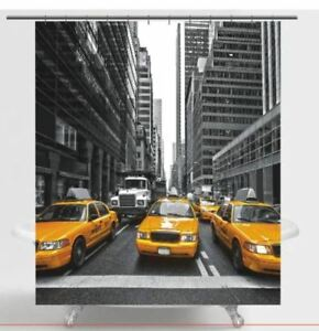 New York city Time square  fabric  Shower Curtain