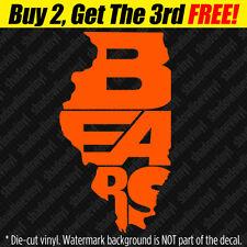 BEARS Vinyl Decal Sticker Illinois State Chicago Football Fan Da Bears Bumper