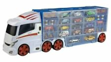 Mega Car Transporter Lorry Truck 14 Diecast Vehicles & Accessories & Carry Case