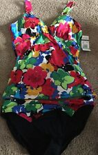 NWT❤️ANNE COLE Size 16 Floral Tankini Swimsuit 2 Piece Set