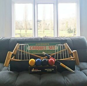 Vintage Jaques Of London Croquet Set Boxed. No. 71360 Adult