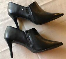 Simply Vera Vera Wang Women's Realism Black Leather High Heels 8.5M  New In Box