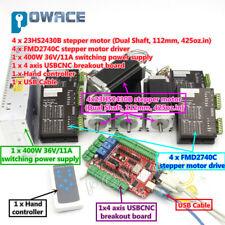 4 Axis Nema23 Stepper Motor 425oz.in&Driver&Power supply USB CNC Controller Kit