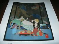 1921 Art Print - PEACOCK and DRAGON by JOHN AUSTEN Music Musician BRUNETTE BLOND
