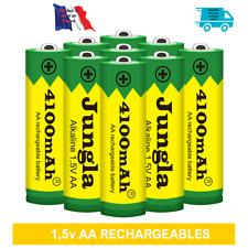 Piles batteries AA ( LR06) 1.5V rechargeables Haute capacité 4100 mAh. Lot de 4.