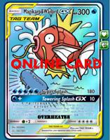 Magikarp & Wailord GX FA HR PTCGO Pokemon TCG Online Digital card Send Fast!