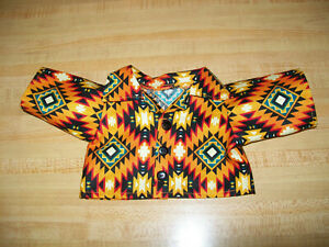 """GEOMETRIC PATTERN SHIRT ?NAVAJO DESIGNS for 16-17-18"""" CPK Cabbage Patch Kids"""